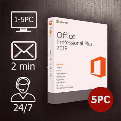 Office 2019 Professional Plus (PRO PLUS) 1-5PC / 32&64 Bits / ESD per Email