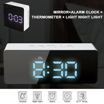 DC7B Plastic Digital Wall Clock Thermometer Multifunction Portable