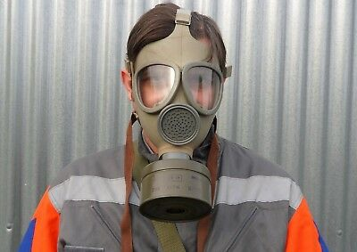 New Sealed Czech Army Cm-4 Civil Defence Gas Mask + Filter + Bag