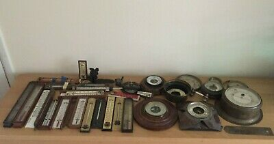 Job Lot Of Antique Barometer Parts Dials, Thermometers Spares Repairs
