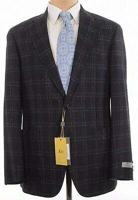 Canali NWT Sport Coat Size 44R In Black & Gray Plaid KEI Current $1,495