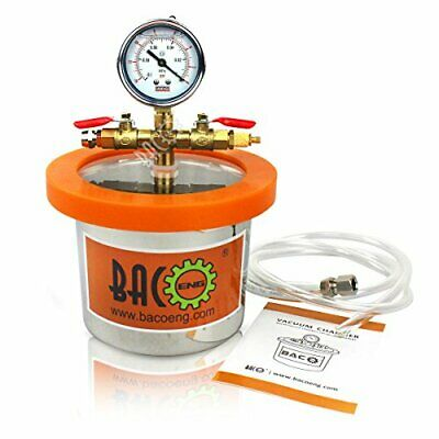 BACOENG 2 Quart Vacuum Chamber Kit with 3.6 CFM 1 Stage Vacuum Pump HVAC New