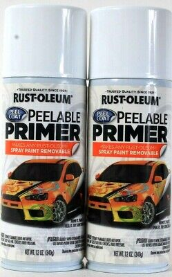 2 Cans Rust-Oleum 12 Oz 316178 Peelable Primer Makes Any Spray Paint Removable