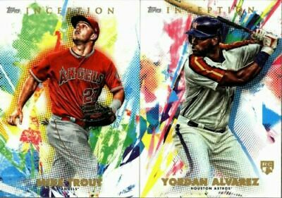 2020 Topps Inception Base Singles W/ Rookie Rc #1-100 - You Pick & Complete Set