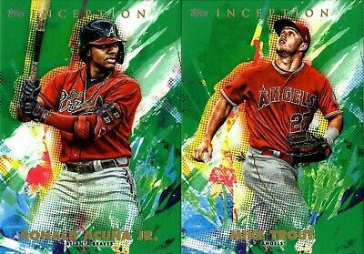 2020 Topps Inception Green Parallel Singles W/ Rookie Rc #1-100 - You Pick