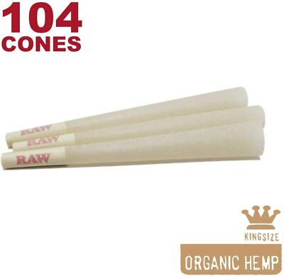 RAW 104 Organic King Size Hemp Cones - Natural Unbleached Rolling Papers
