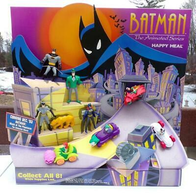 McDonalds Happy Meal Batman Store Display Toys Complete