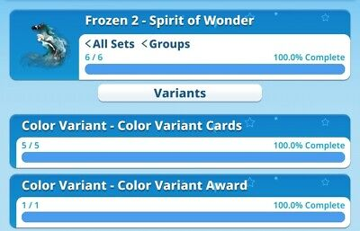 Frozen Spirit Of Wonder Rare Set And Award By Topps Disney Collect Digital Card