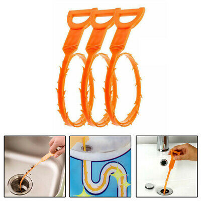 3pcs Hair Drain Clog Plugs Remover Cleaner O1X3 For Sink Bathtub Supply Tool Kit