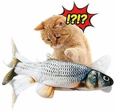 Pet Supplies Electric Simulation Flop Wag Fish Shaped Catnip Plush Toy Cat Pop