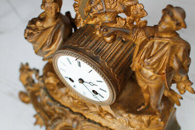 Antique French Bell Striking Mantel Clock