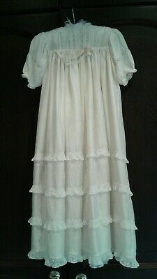 Vintage Baby Christening gown 20/30s Cream Silk  Exc Condition Chest 22""