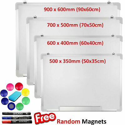 Magnetic Whiteboard Large Small White Board Dry Wipe Notice Office School Home