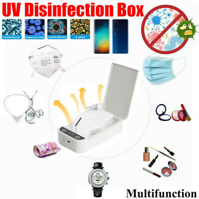 UV Phone Soap Sanitizer Cleaner Device Cellphone Smartphone Sterilizer Face Mask