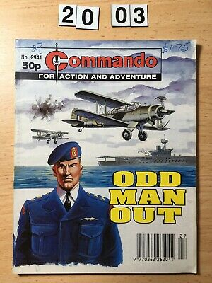 """Commando Comic # 2941 from 1996  """"Odd Man Out""""  Very  Good Cond."""