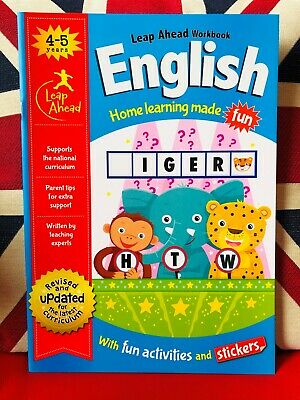 Leap Ahead English Workbook for 4-5 Years (Paperback 2018) NEW Free UK Delivery