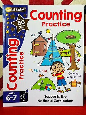 Gold Stars: Counting Practice Ages 6-7 Key Stage 1 (Paperback 2017) New Workbook