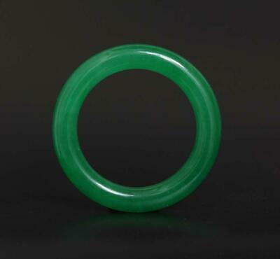 90g Fine Chinese Carved Green Natural Jadeite Jade Bracelet-60mm