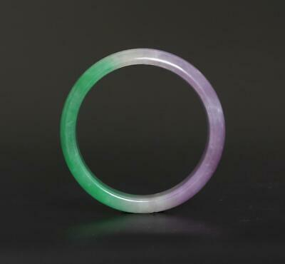70g Fine Chinese Carved Natural Jadeite Jade Bracelet-63mm