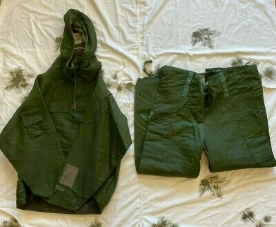 British Army CBRN NBC Mark 3A Olive Green suit Jacket & Trousers medium used 4T