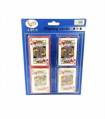 4 x PROFESSIONAL PLASTIC COATED  PLAYING CARDS