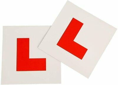 2 x FULLY MAGNETIC L PLATES SECURE Quick Easy To Fix Learner Sign