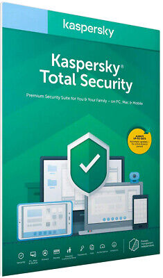 Kaspersky Total Security  2020 1 Device Pc 2 Year License (Global Key)