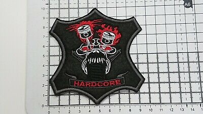 HARDCORE Motor Cycles Embroidered Biker Patches/Badges(Sew-On/Iron-On)