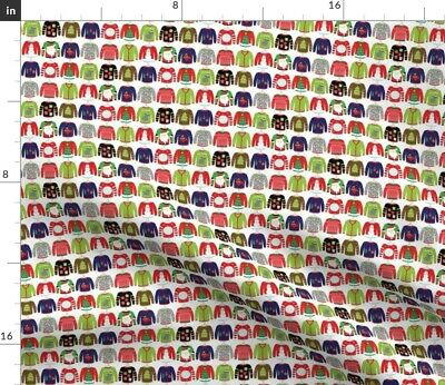 Ugly Sweater Christmas Greenmountain Merry Fabric Printed by Spoonflower BTY