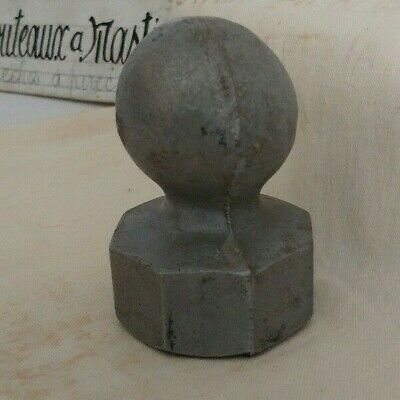 Vintage Fence Post Topper 2 inch round ball top replacement repair finial part