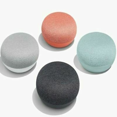 Google Home Mini Smart Speaker with Google Assistant, Charcoal,Chalk, Coral, New