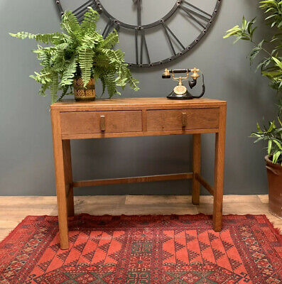 1930s Oak Console Table / Writting Desk. Heals, Arts And Crafts, Art Deco Style