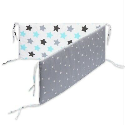 10X(Cotton Breathable Crib Bumper Pad Washable Thick Baby Mattress Set Baby H2D5