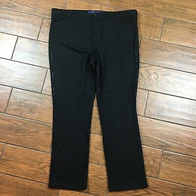 NYDJ Not Your Daughters Jeans WOMENS 18W Black Studded Pants