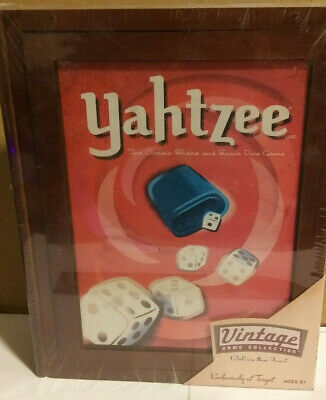 *Brand New* 2005 Yahtzee Classic Dice Game Wooden Box Book Vintage Collection Ed
