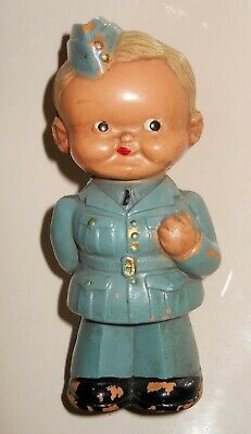 Rare Vintage Celluloid Airforce Military Doll ~ Mabel Lucie Attwell