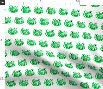 Frog Doodle Children' Drawing Animal Cute Kids Fabric Printed by Spoonflower BTY