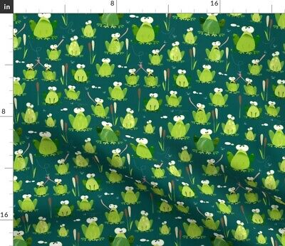 Frog Animal Kids Boys Nature Fabric Printed by Spoonflower BTY