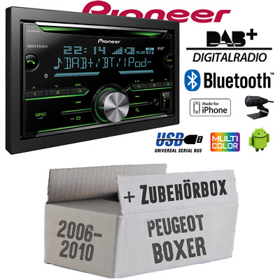 Pioneer Car Radio for Peugeot Boxer 2 since 2006 Spotify IPHONE Bluetooth DAB+