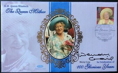 WENDY CRAIG TV Actress, Butterflies, The Royal, Signed 4.8.2000 Queen Mother FDC