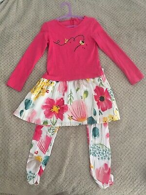 Catimini Dress And Leggings Size 5 Years