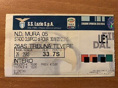 Biglietto Stadio Ticket Lazio-Mura 05 Europa League 2012/'13
