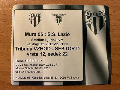 Biglietto Stadio Ticket Mura 05-Lazio Europa League 2012/'13
