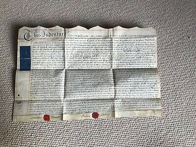 Antique Lease Indenture 1802. Yorkshire Lister Wroot