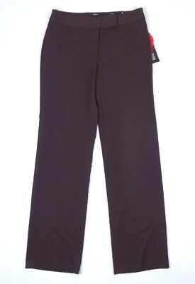 Style&co. Womens Stretch Dress Pants Straight Leg Brown Size 6