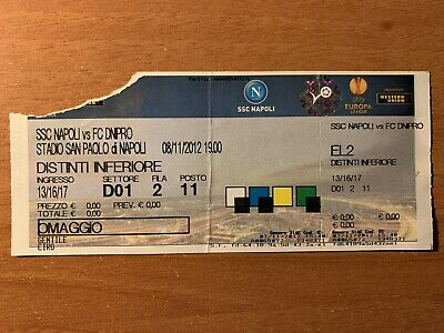 Biglietto Stadio Ticket Napoli-Dnipro Europa League 2012/'13