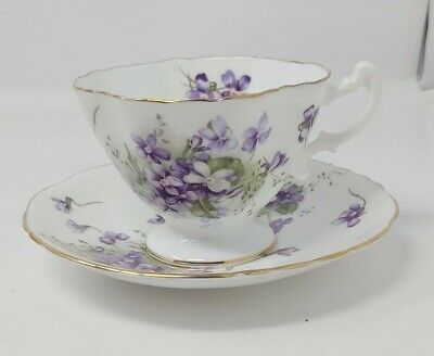 Hammersley Bone China Victorian Violets Cup & Saucer Made in England Z14
