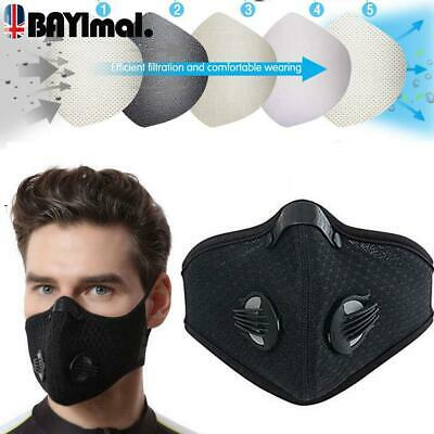 Cycling Sports Face Mask W/ Activated Carbon Filter Anti Pollution Mask Headwear