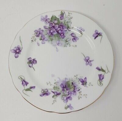 "Hammersley Bone China Victorian Violets Bread Butter 6"" Plate England Z14"