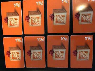 $200 Home Depot Gift Cards. ***New***.  ***Unscratched***